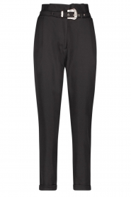 Aaiko |  High-waist belted pants Tressa | black  | Picture 1