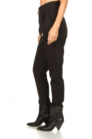 Aaiko |  High-waist belted pants Tressa | black  | Picture 7