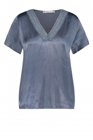 Aaiko |  Top with lace Sinnie | blue  | Picture 1