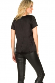 Aaiko |  Top with lace v-hals Sinnie | black  | Picture 5
