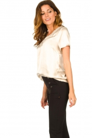 Aaiko |  Top with lace v-neck Sinnie | beige  | Picture 5