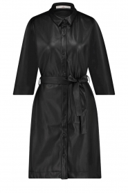 Aaiko |  Faux leather midi dress Peloma  | black  | Picture 1