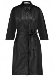 Aaiko    Faux leather midi dress Peloma    black    Picture 1