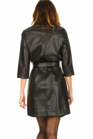Aaiko |  Faux leather midi dress Peloma  | black  | Picture 7