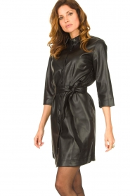 Aaiko |  Faux leather midi dress Peloma  | black  | Picture 5