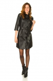 Aaiko |  Faux leather midi dress Peloma  | black  | Picture 3