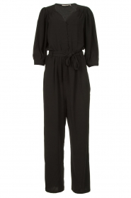 Aaiko |  Jumpsuit with tie belt Shivani | black  | Picture 1