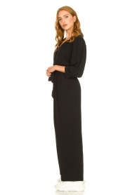 Aaiko |  Jumpsuit with tie belt Shivani | black  | Picture 4