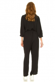 Aaiko |  Jumpsuit with tie belt Shivani | black  | Picture 5