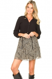 Aaiko    Basic blouse Roza   black    Picture 5