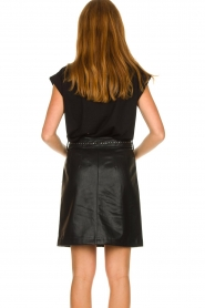 Aaiko |  Faux leather skirt with studs Patia | black  | Picture 6
