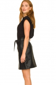 Aaiko |  Faux leather skirt with studs Patia | black  | Picture 5