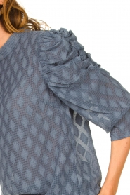Aaiko |  Top with puffed sleeves Soyin | blue  | Picture 7