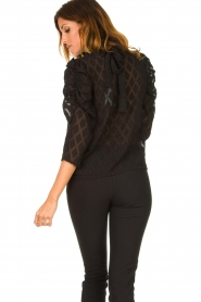 Aaiko    Top with puffed sleeves Soyin   black    Picture 6