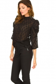 Aaiko    Top with puffed sleeves Soyin   black    Picture 5