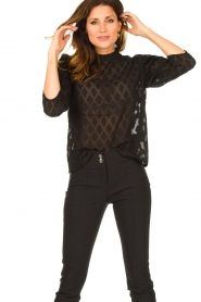 Aaiko    Top with puffed sleeves Soyin   black    Picture 2