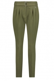 Aaiko |  Pants with belt Lyatt | green  | Picture 1