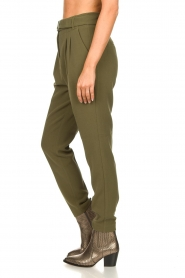 Aaiko |  Pants with belt Lyatt | green  | Picture 6