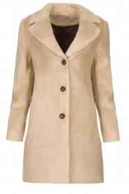 Aaiko |  Faux fur coat Isko | beige  | Picture 1