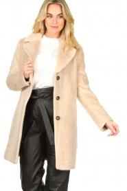 Aaiko |  Faux fur coat Isko | beige  | Picture 4
