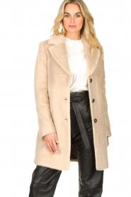 Aaiko |  Faux fur coat Isko | beige  | Picture 2