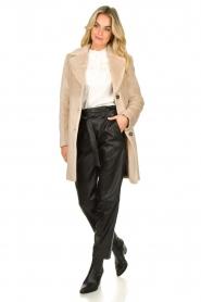 Aaiko |  Faux fur coat Isko | beige  | Picture 3