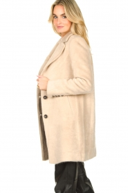 Aaiko |  Faux fur coat Isko | beige  | Picture 5