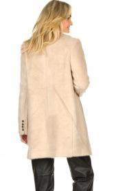Aaiko |  Faux fur coat Isko | beige  | Picture 6