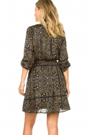Aaiko |  Print dress Firely | black  | Picture 7