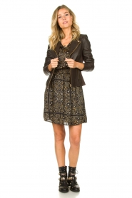Aaiko |  Print dress Firely | black  | Picture 3