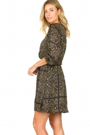 Aaiko |  Print dress Firely | black  | Picture 6
