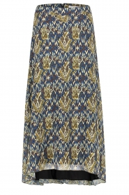 Aaiko |  Midi skirt with print Caya | blue  | Picture 1