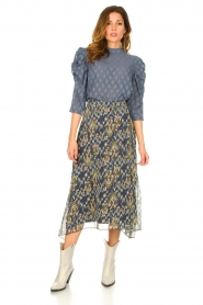 Aaiko |  Midi skirt with print Caya | blue  | Picture 4