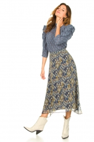 Aaiko |  Midi skirt with print Caya | blue  | Picture 5