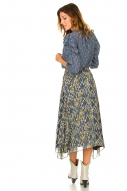 Aaiko |  Midi skirt with print Caya | blue  | Picture 6