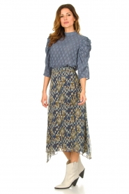 Aaiko |  Midi skirt with print Caya | blue  | Picture 2