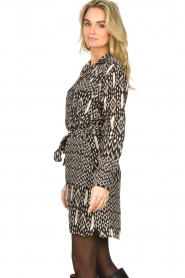 Aaiko |  Printed dress with belt Merola | black  | Picture 5