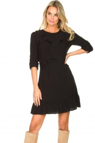 Aaiko    Dress with ruffles Talise   black    Picture 4