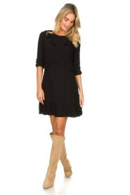 Aaiko    Dress with ruffles Talise   black    Picture 3