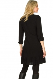 Aaiko |  Dress with ruffles Talise | black  | Picture 6