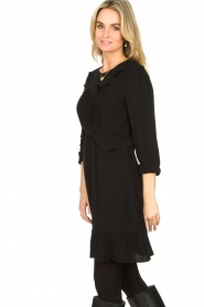 Aaiko |  Dress with ruffles Talise | black  | Picture 5