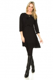 Aaiko |  Dress with ruffles Talise | black  | Picture 3