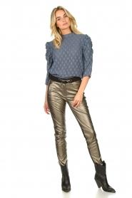 Aaiko |  Pants with metallic stripe Sosa | metallic  | Picture 2