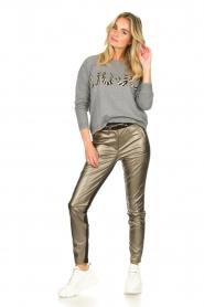 Aaiko |  Pants with metallic stripe Sosa | metallic  | Picture 3