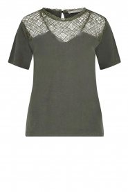 Aaiko |  Top with lace details Meghan | green  | Picture 1