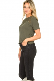 Aaiko |  Top with lace details Meghan | green  | Picture 4