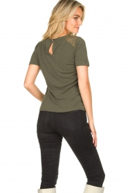Aaiko |  Top with lace details Meghan | green  | Picture 5