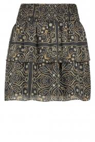Aaiko |  Print skirt Trix | black  | Picture 1