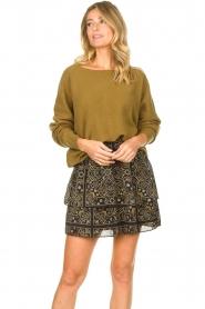 Aaiko |  Print skirt Trix | black  | Picture 4