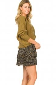 Aaiko |  Print skirt Trix | black  | Picture 5